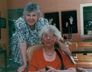 Toby and Maxine during a Bryn Mawr visit in 1992.