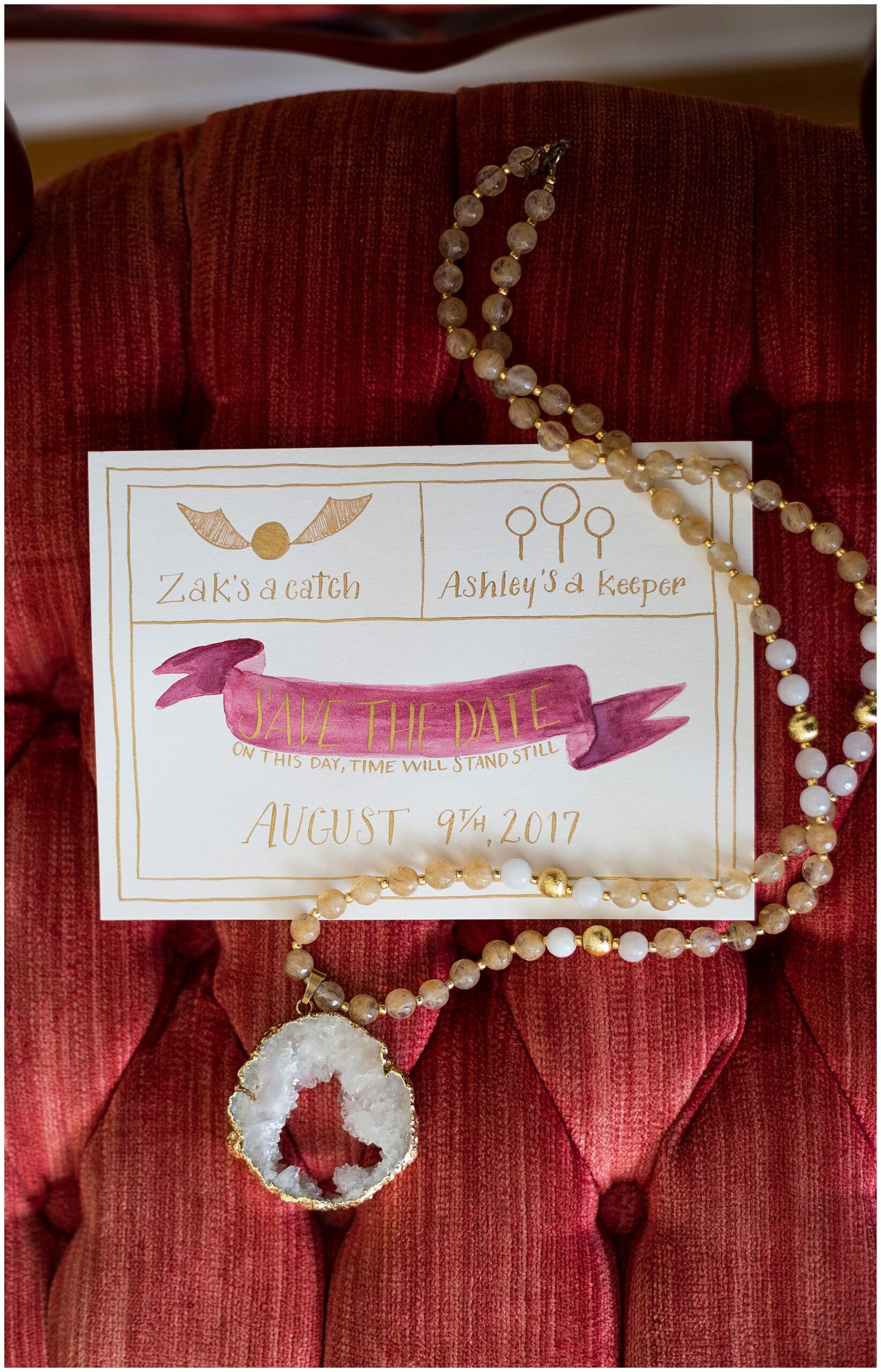 Harry Potter save the date invitations to the Grand Texana in Houston Texas photographed by Swish and Click Photography