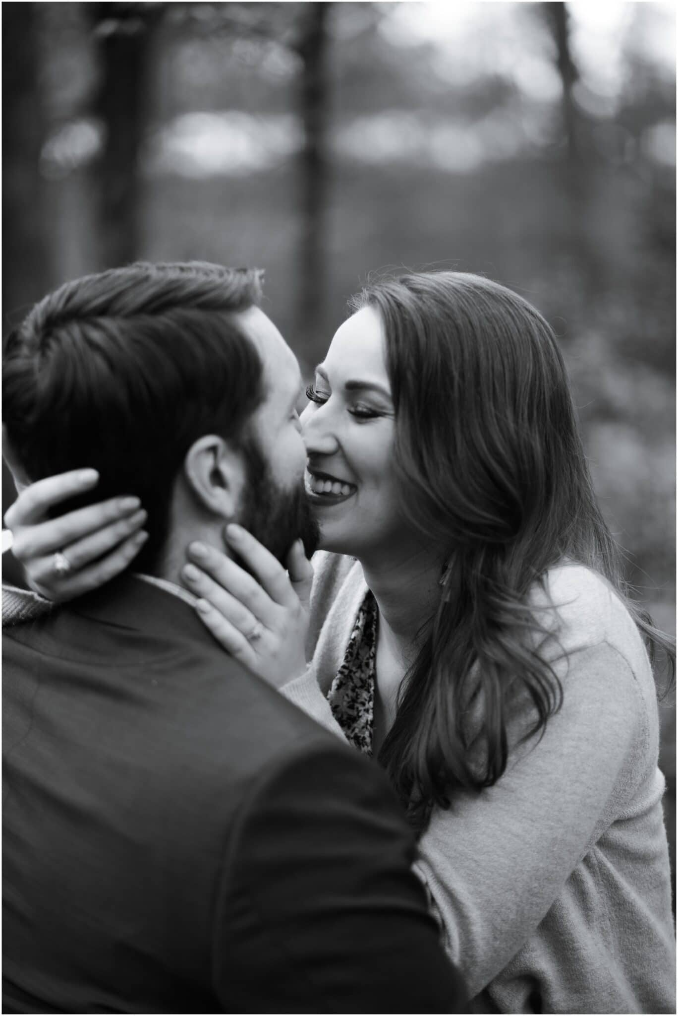 fun engagement session at Houston Arboretum in Houston, Texas photographed by Swish and Click Photography