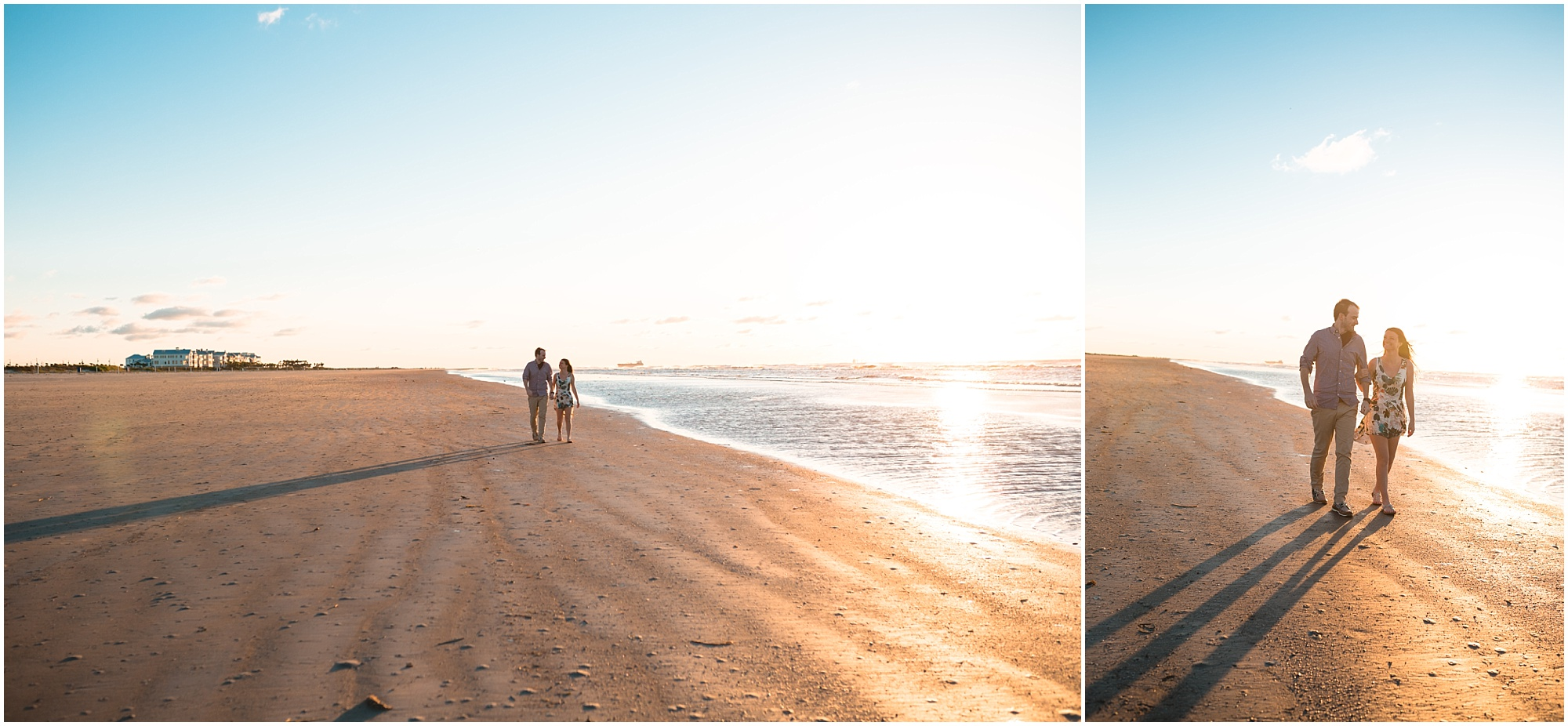 charming beach engagement session in Galveston Texas photographed by Swish and Click Photography