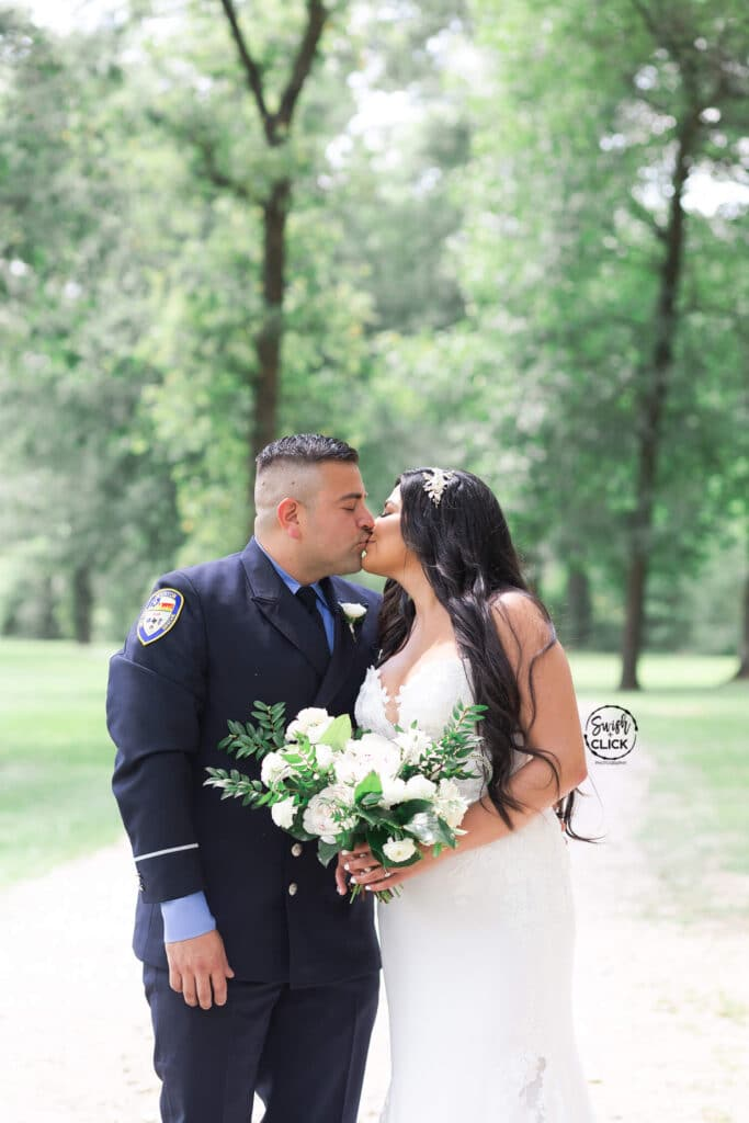 bride and groom first look at a micro and intimate wedding at Balmorhea Event Venue in Houston Texas by Swish and Click Photography