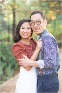 gorgeous engagement session with a smiling couple captured by Swish and Click Photography