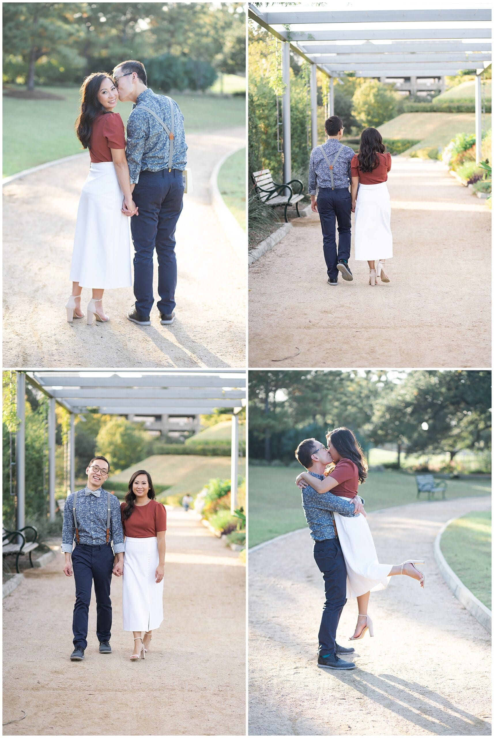 gorgeous engagement session with a dancing couple captured by Swish and Click Photography