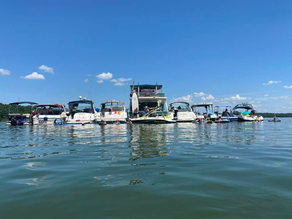 RYC Boats Tied Up Percy Priest Lake 2020
