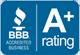 Better business bureau A+ Rating