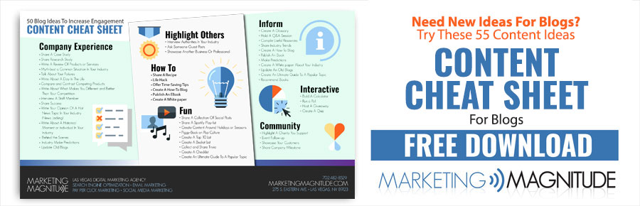 Blog Content Idea Cheat Sheet Free Download