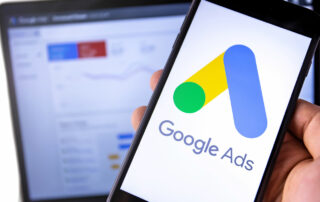 Google Ads on Mobile Device with Analytics on Laptop