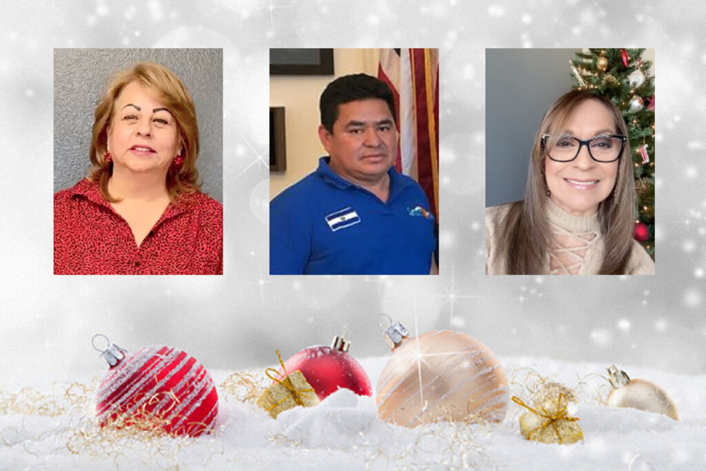 Líderes comunitarios hispanos brindan su saludo de navidad