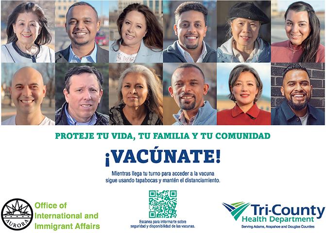 vacunate proteje tu vida, tu familia y tu comunidad