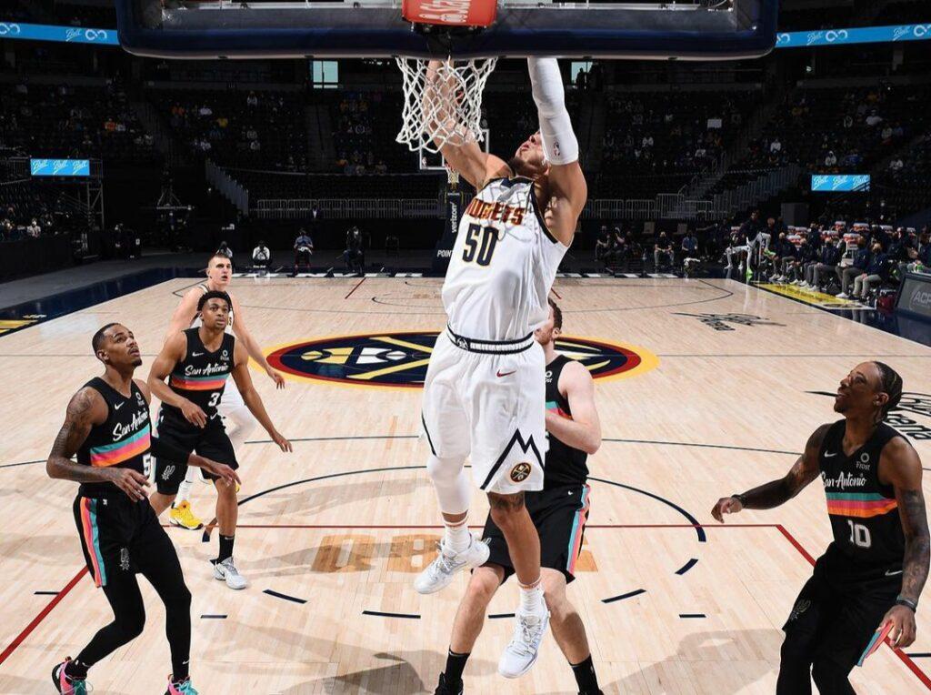 Los Denver Nuggets batieron 106 a 96 a San Antonio Spurs
