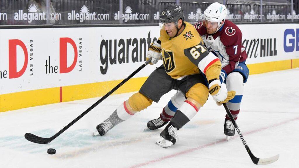 Avalanche no pudo contra sus archirrivales Las Vegas Golden Knights