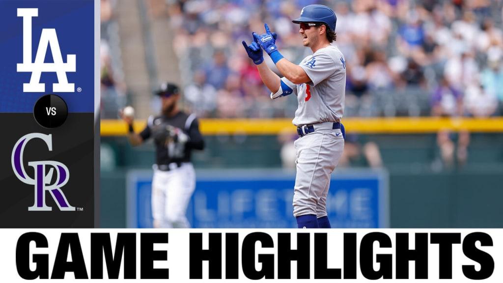 Los Rockies solo ganaron un juego en la serie contra Dodgers (1-3)