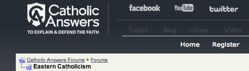 A forum where Roman Catholics often pose questions to Eastern Catholics.