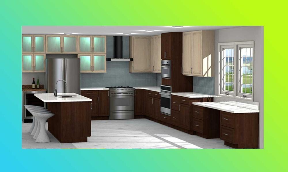 CAD of kitchen design