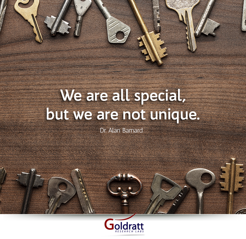 We are all special, but we are not unique.