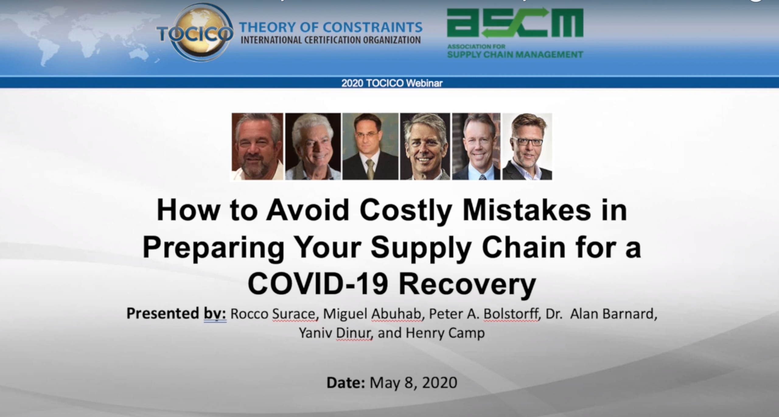Avoid Costly Mistakes Webinar with TOCICO Experts