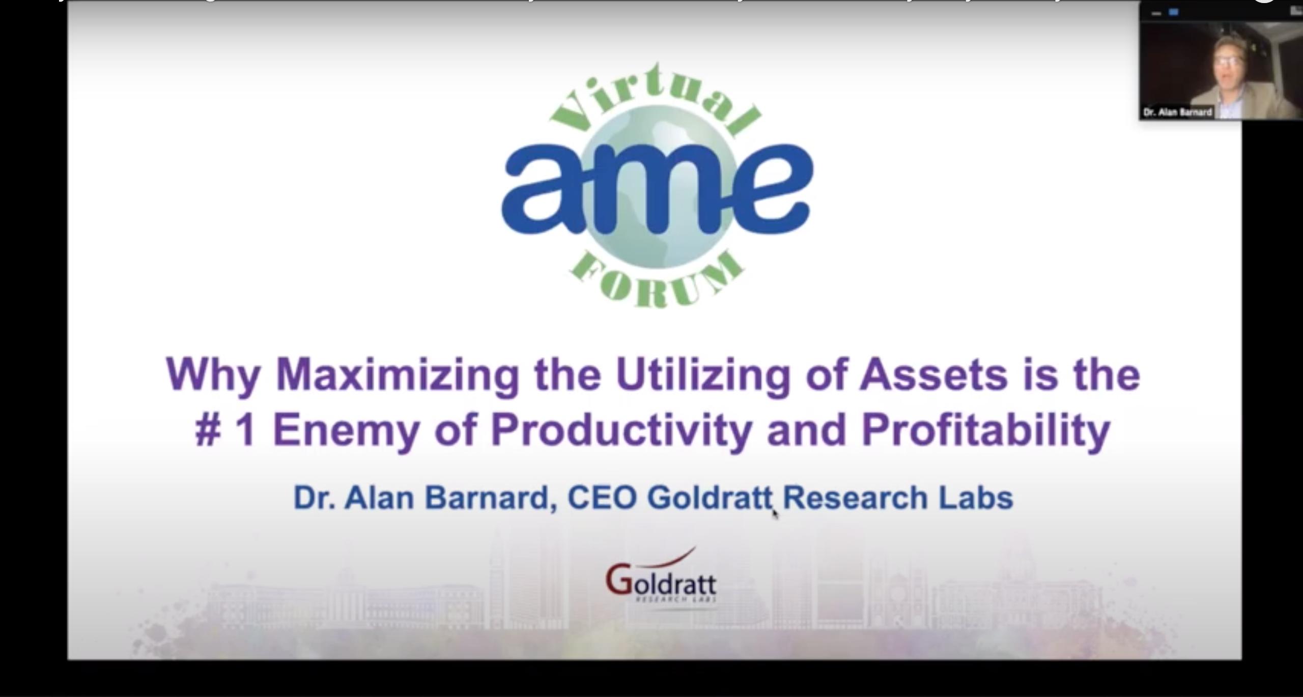 AME Virtual Forum on Productivity and Profitability