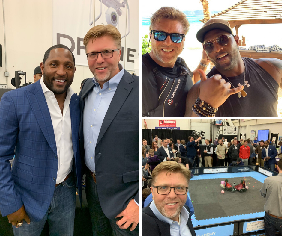 Ray Lewis, Alan Barnard at the CEO Battle of the Robots/CEO Minute Interview