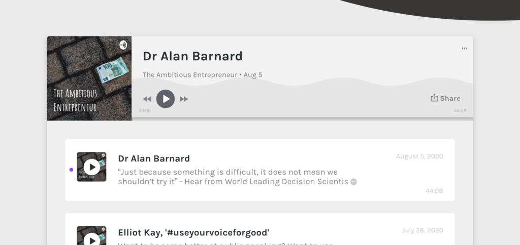 The Ambitious Entrepreneur Podcast Episode with Dr. Alan Barnard