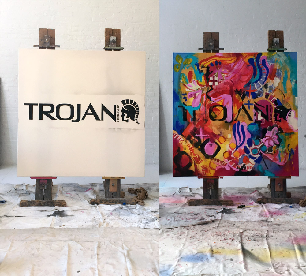 Ari Lankin - Trojan Nirvana - Trojan Condoms - Painting - New York City