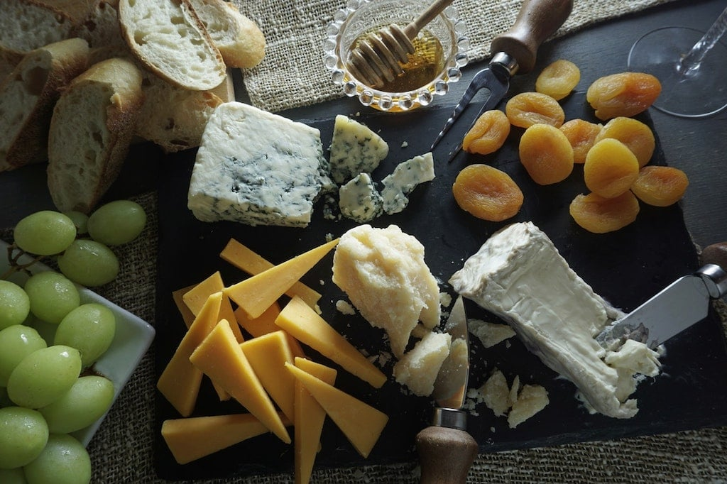 cheese platter as dairy products become popular