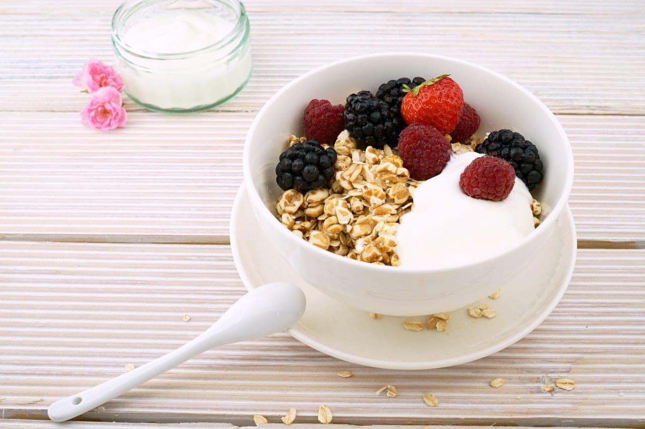muesli in a white bowl