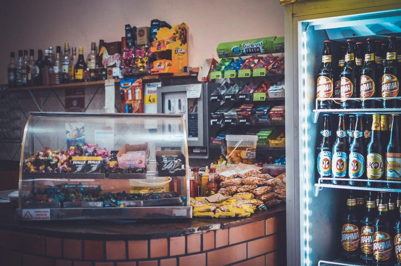 display of various snacks