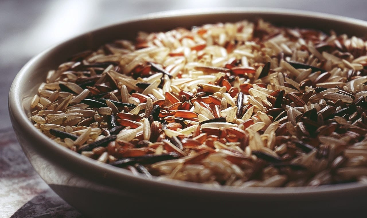 assorted rice in a bowl