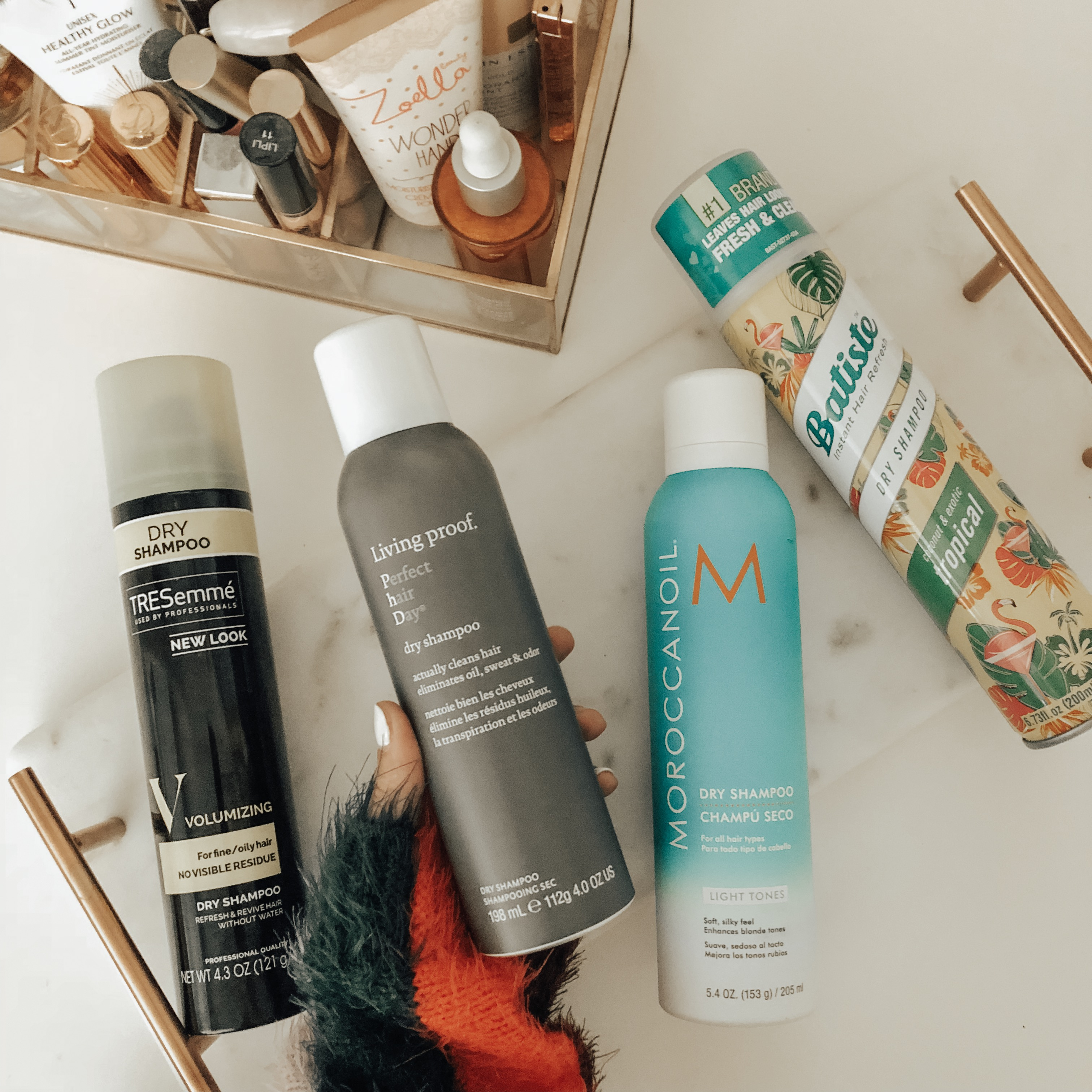 NATIONAL DRY SHAMPOO DAY- MY MUST HAVES - Jaclyn De Leon Style = Looking for the best dry shampoo on the market? I've tried and tested tons of popular brands and I'm dishing all about my must have top 4 dry shampoos. Two are worth the splurge and the other two are under $8 and you can find at Target or your local drug store.