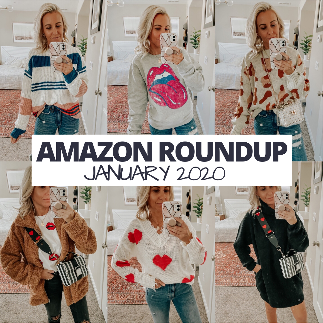 AMAZON ROUNDUP JANUARY 2020- Jaclyn De Leon Style- Sharing all my Amazon Prime favorites from the month of January from cozy sweaters, valentines items + tons of cute accessories