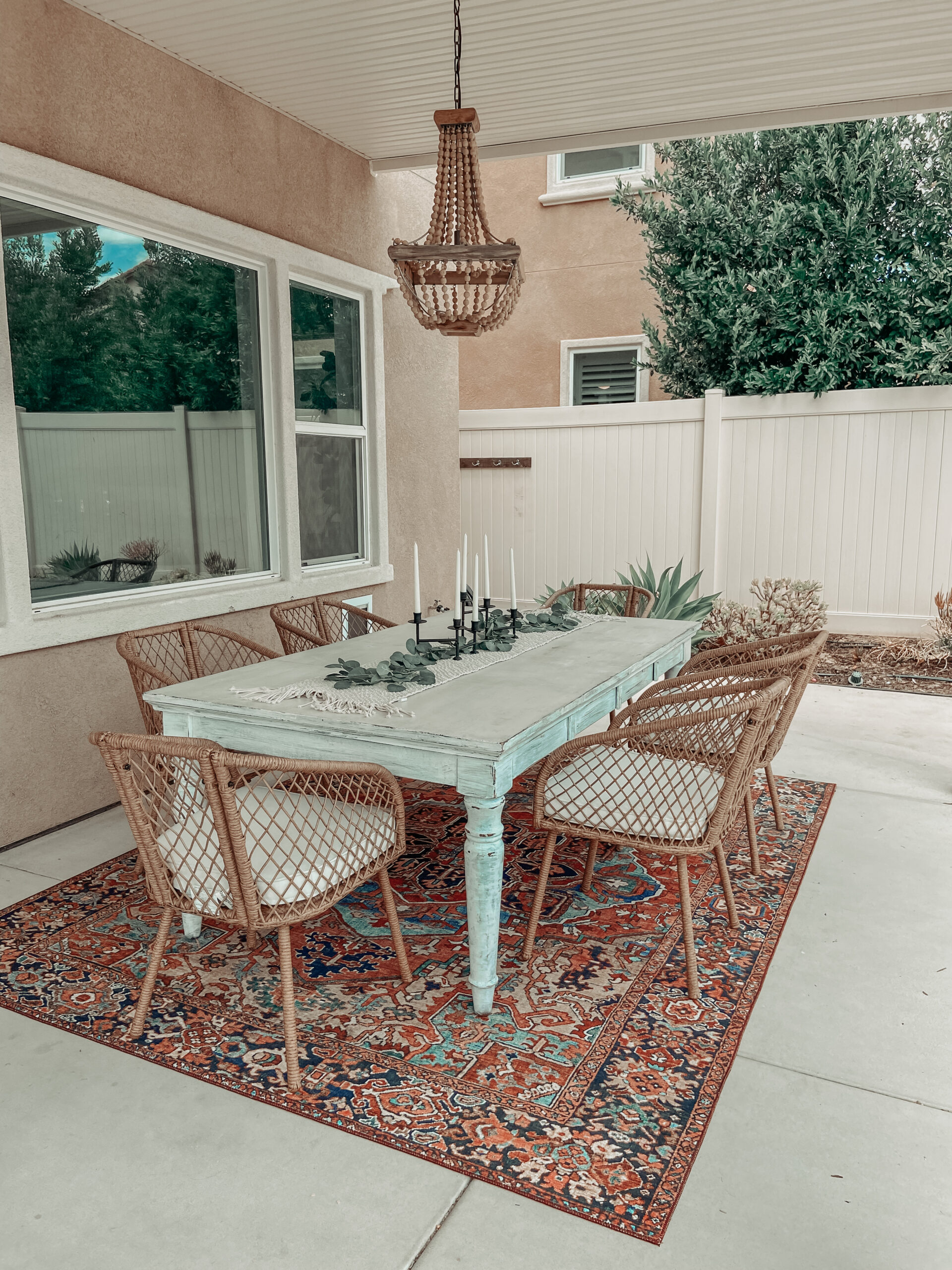 BACKYARD SUMMER REFRESH- Jaclyn De Leon Style + sharing my latest home decor patio updates, boho style, outdoor dining, amazon home, target home finds