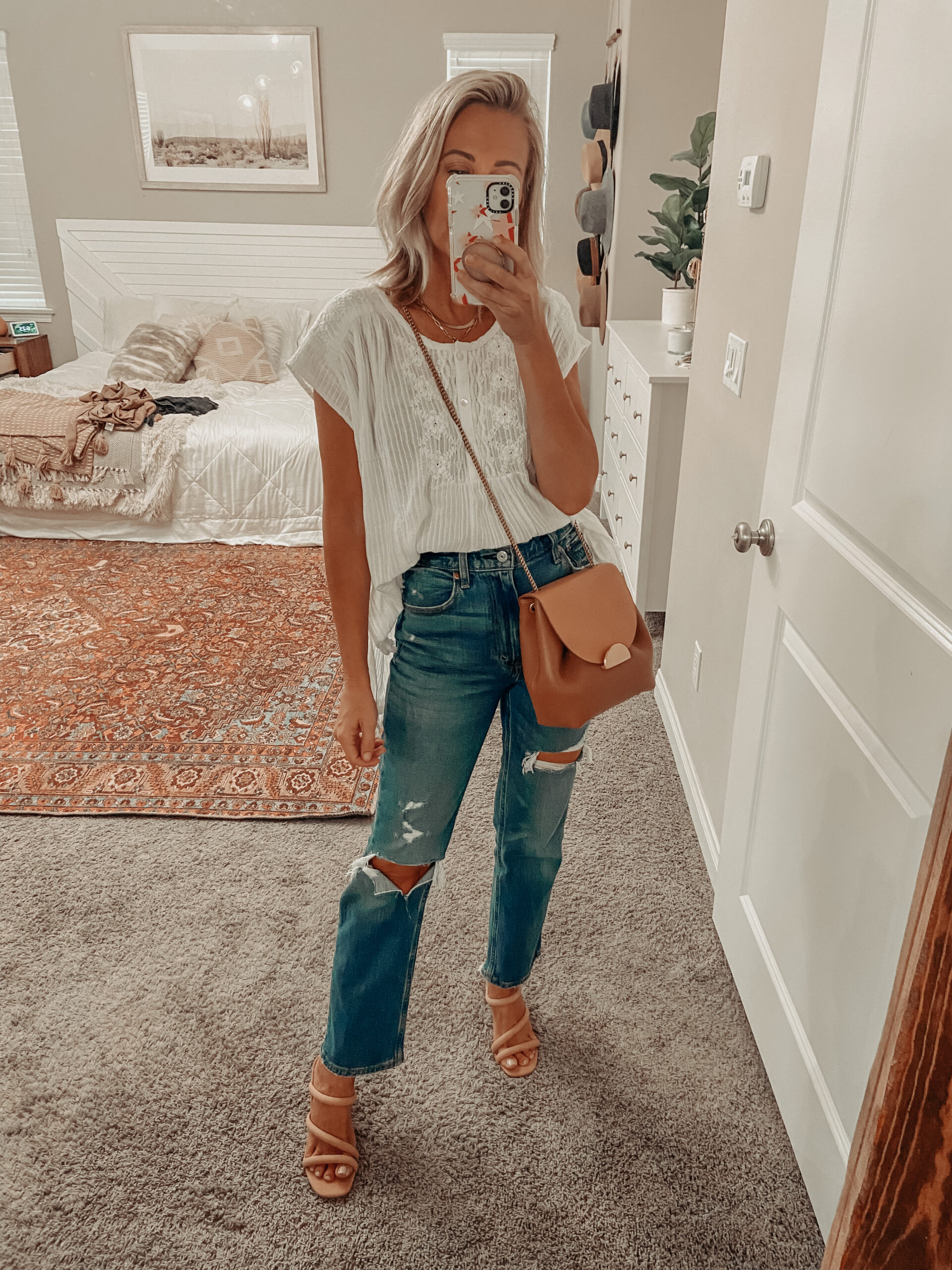 YOU'LL NEVER GUESS WHERE I GOT THESE CUTE BOHO SUMMER PIECES- JACLYN DE LEON STYLE- boho summer finds from World Market, bohemian style, boho chic outfits for summer