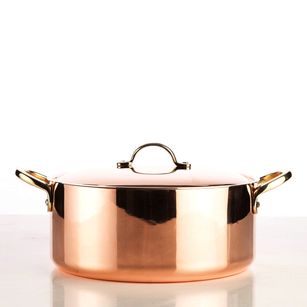 5400-24-copper-pot-with-lid-smooth-finish-square