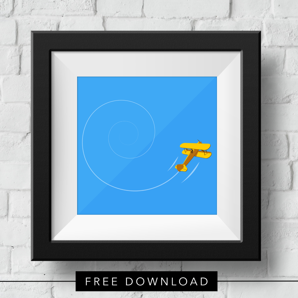 yellow-biplane-free-download