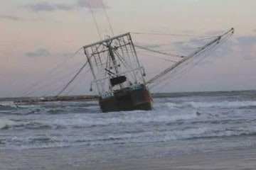 Fishing Troller Stranded On Wildwood Beach