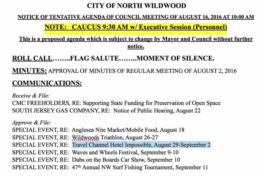 Travel Channel Hotel Impossible Coming To Wildwood?