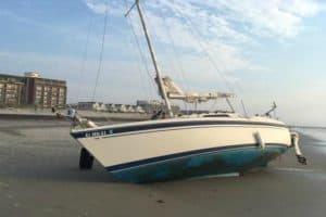 Boat Beached In North Wildwood