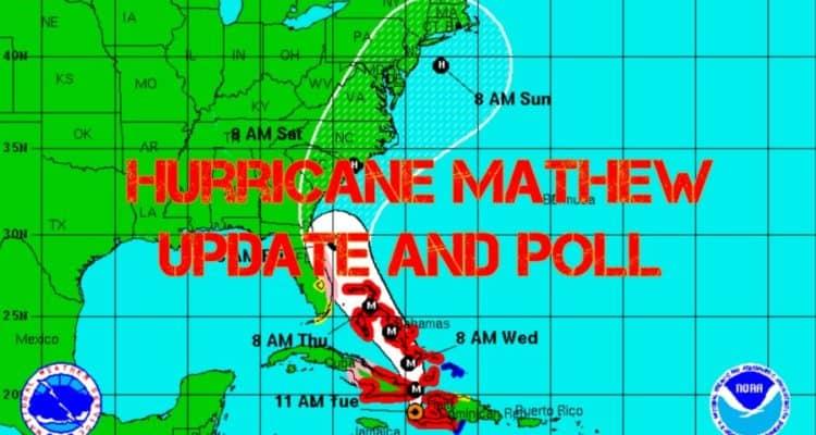 Hurricane Mathew Update and Poll (Wildwood Weather)