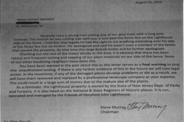1. Threatening Letter from Murray to Residents – 08.12.16