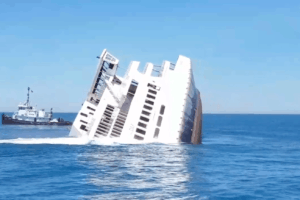 Cape May Ferry Sinking (Video)
