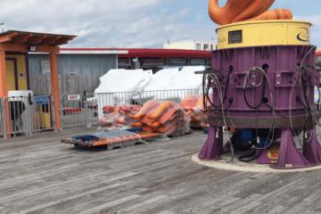 Surfside Pier Is Getting Winterized