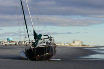 Boat Beached In Sea Isle