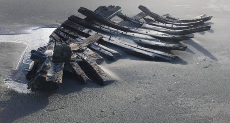 Did a Old Ship Wash Up in Stone Harbor???