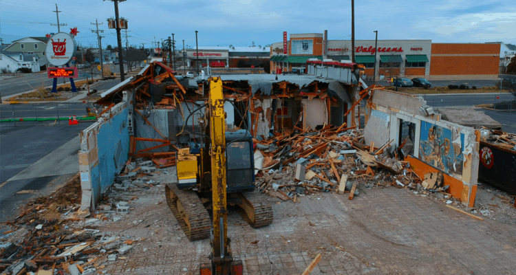 McDonald's Demolition Drone Video