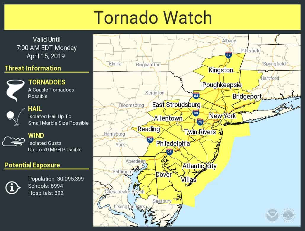 A Tornado Watch Has Been Issued!!