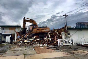 Woody's Cafe Knocked Down