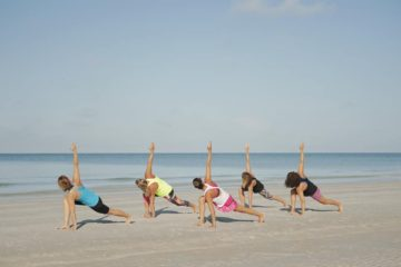 Yoga on the Wildwood Beach