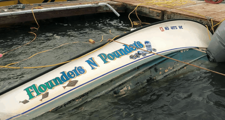 Boat Raised In North Wildwood