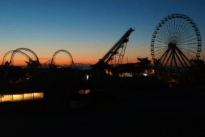 Sunrise Over The Wildwood Boardwalk
