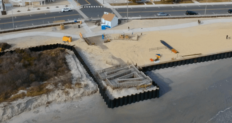 North Wildwood Bulkhead Project Underway